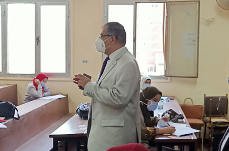 In an Extensive Tour: Almaghrabi inspects the Exams at some Faculties