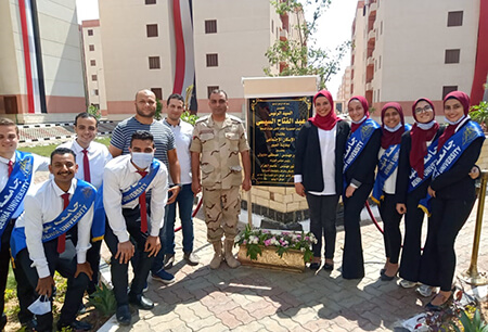 Benha University Students join President El Sisi in Opening a number of National Projects