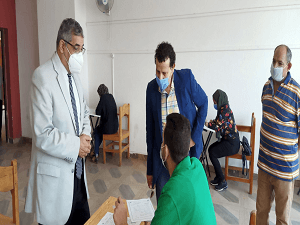 Almaghrabi inspects the Exams at the Faculty of Applied Arts