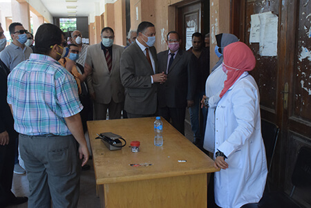 El Saeed inspects the Exams at the Faculties of Law and Education