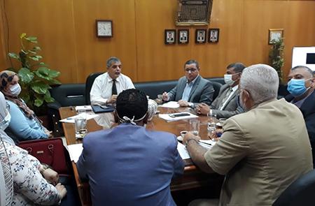 لجنة متابعة اختبارات القدرات بجامعة بنها تستعرض تقارير الكليات