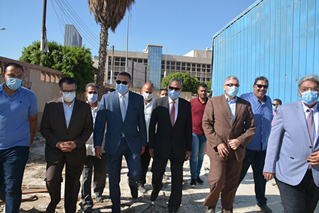 Qalyoubia Governor and BU President inspect the Site of the New Specialized Hospital