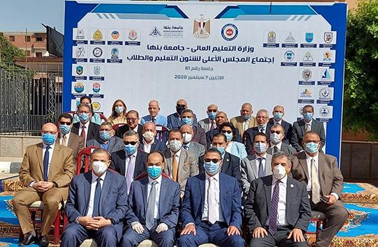 المجلس الأعلى لشئون التعليم والطلاب يشيد بجهود نائب رئيس جامعة بنها