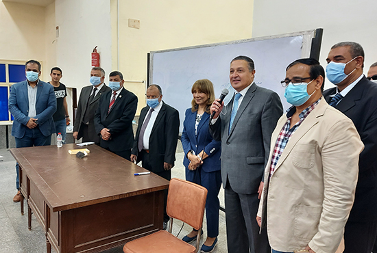 BU President inspects the Regularity of the Educational Process at the Faculties