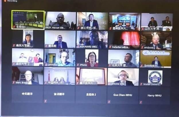جامعة بنها تشارك في المنتدي الافتراضي للتعليم العالي الثلاثي بين الصين وفرنسا وافريقيا