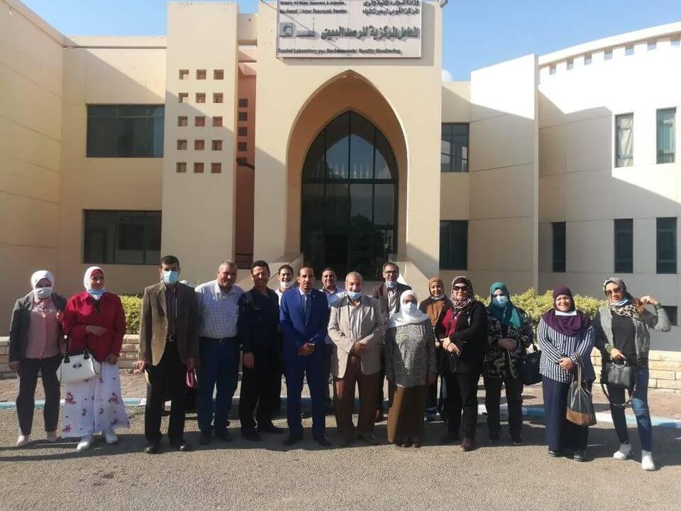 زيارة علمية : لمديري المعامل والمشروعات البحثية بجامعة بنها للمعامل المركزية للرصد البيئي بالقناطر الخيرية