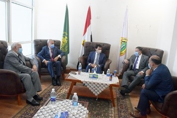 Qalyoubia Governor and BU President receive the Minister of Youth and Sports