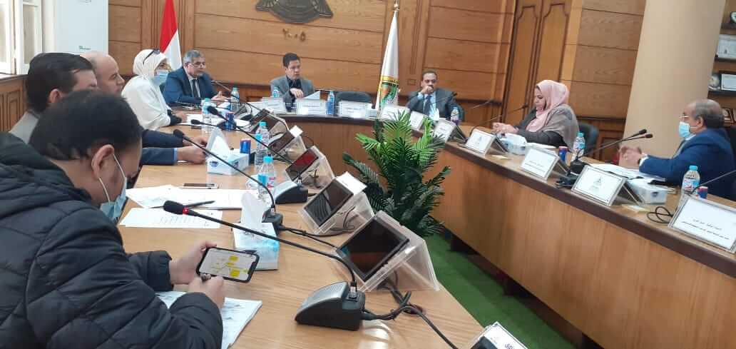 إجتماع مجلس إدارة الوحدة المركزية للتخطيط الإستراتيجي  بجامعة بنها