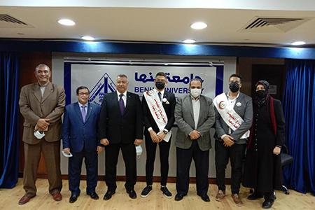 الرفاعي رئيسا لاتحاد طلاب جامعة بنها .. والجرواني نائبا لرئيس الاتحاد