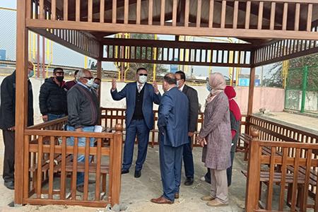 رئيس جامعة بنها يتفقد مشروع تجديد الملاعب ونادي أعضاء هيئة التدريس