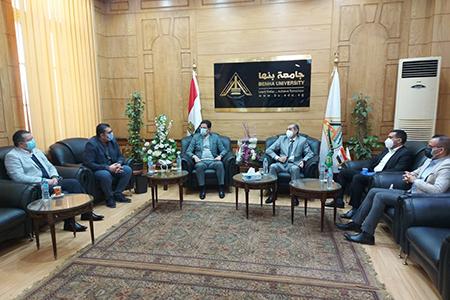 خلال استقباله وفدا عراقيا .. رئيس جامعة بنها: نقلة نوعية في منظومة التعليم العالي المصري