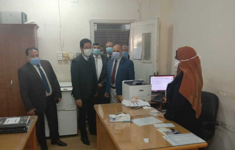 El Gizawy inspects the various Departments of the University Administration