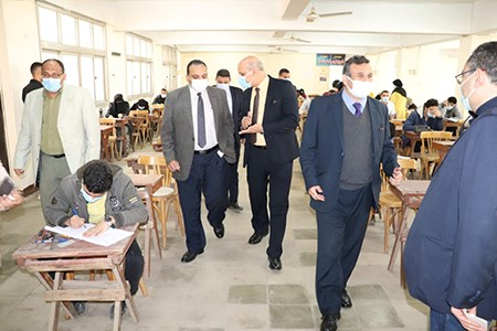 Prof. Tamer Samir inspects the 1st Semester Exams at Faculty of Agriculture