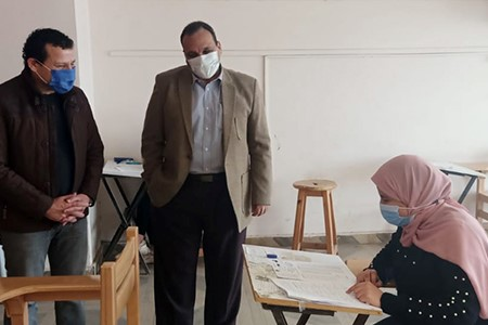 Prof. Tamer Samir inspects the First Semester Exams at Faculties of Computer & Artificial Intelligence and Applied Arts.