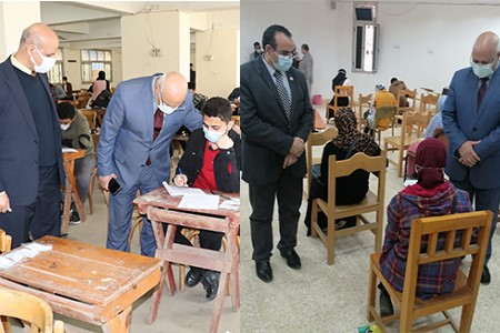 Prof. Gamal Soussa inspects the First Semester Exams at Faculties of Agriculture and Veterinary Medicine