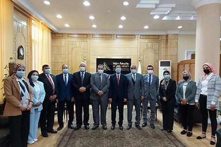 Benha University receives the Annual Assessment visit of Quality Management Team
