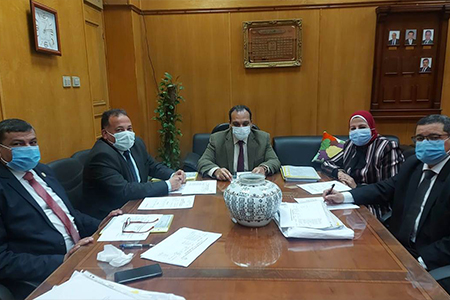 Leadership Committee at Benha University Receives Applicants for Supervision Positions