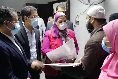 وزيرة التضامن الاجتماعي تتفقد حالة مصابى قطار طوخ بمستشفى بنها الجامعى