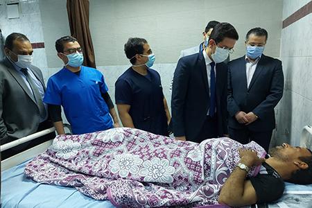 لليوم الثاني على التوالي: القائم بأعمال رئيس جامعة بنها يتفقد الحالة الصحية لمصابي حادث قطار طوخ