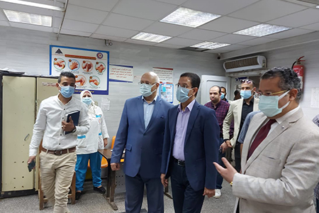 الجيزاوى يتفقد مستشفى بنها الجامعي في ثاني أيام العيد للاطمئنان على الخدمة الصحية