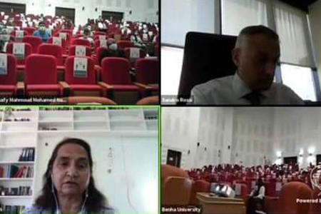 جامعة بنها تختتم فعاليات المدرسة الدولية الافتراضية بالتعاون مع مركز سيرن بسويسرا لأبحاث الطاقة