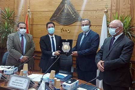 Benha University Board honors Dr.Karim El Dosh for his great Efforts at El Obour Campus