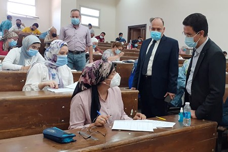 El Gizawy inspects the Second Semester Exams at Faculties of Physical Education and Arts