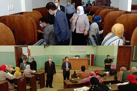 الجيزاوي يتفقد أعمال الامتحانات بكلية الحقوق والتمريض والمعهد الفني للتمريض ومركز الاختبارات الالكتروني