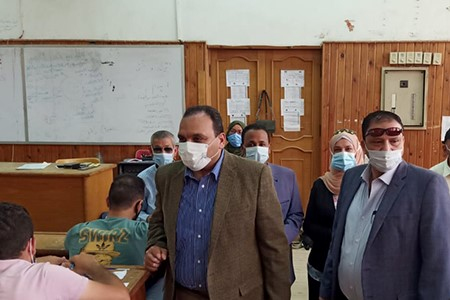 Prof. Tamer Samir inspects the Second Semester Exams at Faculty of Specific Education