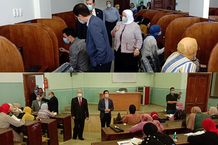 El Gizawy inspects the Second Semester Exams at Faculties of Law-Nursing and Nursing Institute