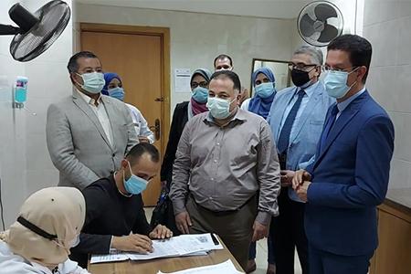 تطعيم 1500 من أعضاء هيئة التدريس والعاملين بجامعة بنها بلقاح كورونا