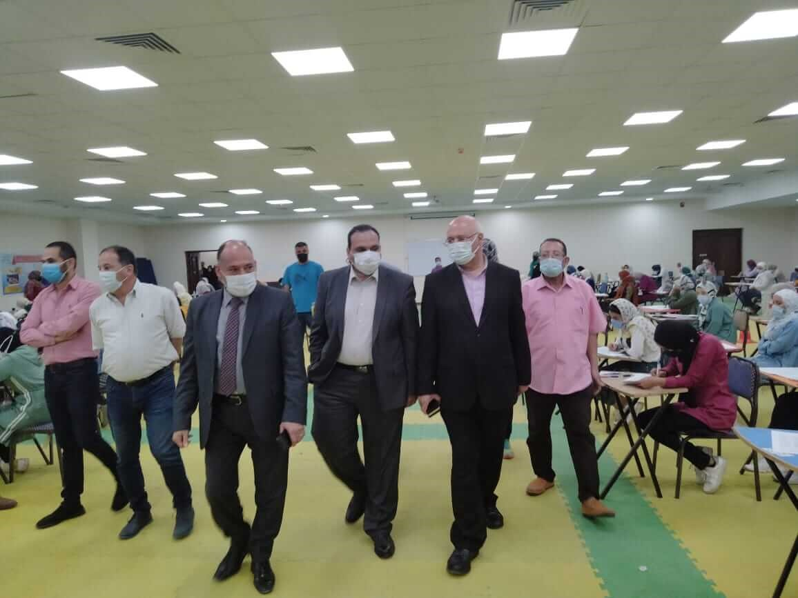 Prof. Tamer Samir and Dr.Gamal Soussa inspect the Second Semester Exams at Faculties of Education and Physical Education
