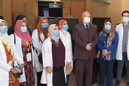 فى إطار مبادرة حياة كريمة: جامعة بنها تنظم قافلة طبية بقرية كفر الشوبك بشبين القناطر
