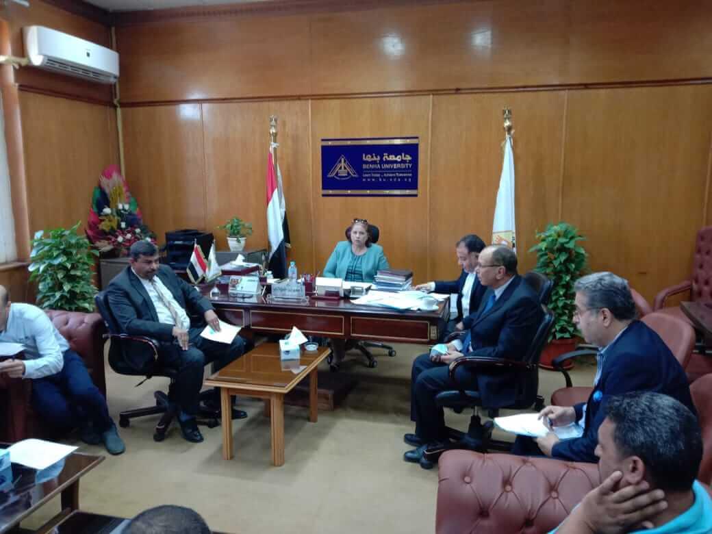اجتماع لجان السلامة والصحة المهنية بجامعة بنها