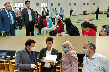 El Gizawy inspects the Aptitude Tests at Faculties of Applied Arts and Physical Education