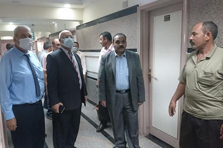 Dr. Tamer Samir and Dr. Gamal Soussa inspect Benha University Hostels at Moshtohor