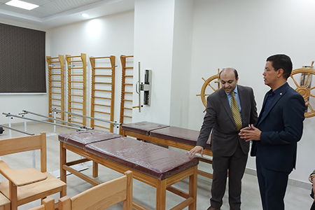 Benha University Acting President inspects Faculty of Physical Thereby