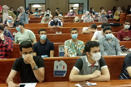 Benha University vaccinates 602 of its Students and Staff on the Second day of Vaccination