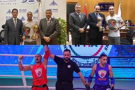 Benha University's Student wins the Elite International Championship of Muaythai in Iraq