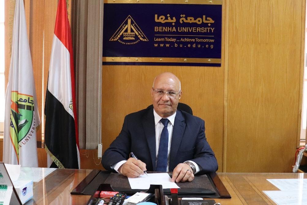 رئيس جامعة بنها الجديد يشكر القيادة السياسية على الثقة وتعيينه رئيساً للجامعة ..