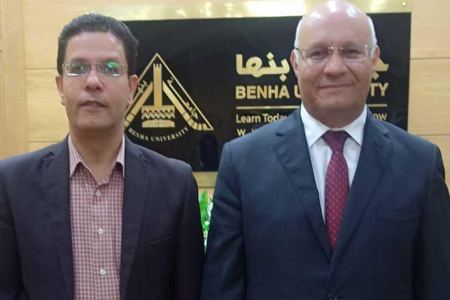 رئيس جامعة بنها يشكر