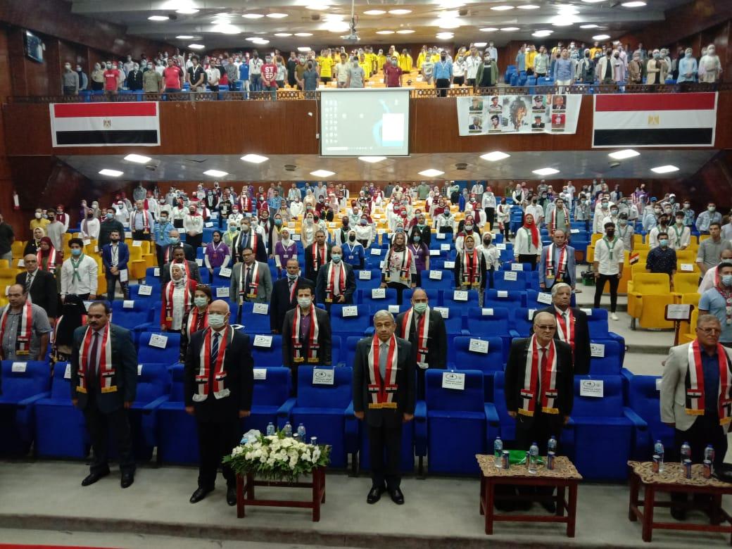 جامعة بنها تحتفل بالذكرى48 لانتصارات أكتوبر المجيدة وتكرم أبطالها